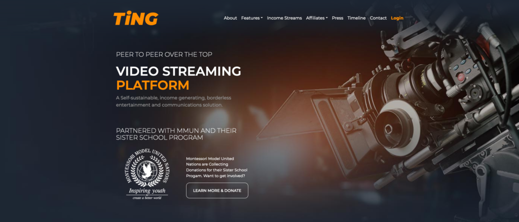 Ting peer to peer video streaming platform